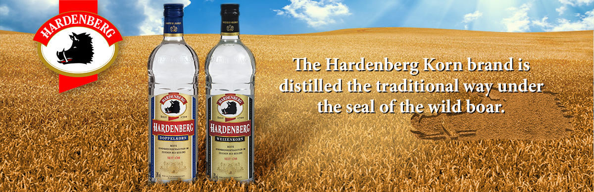 The Hardenberg Korn brand is distilled the traditional way under the seal of the wild boar.